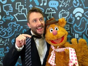 Chris Hardwick and Fozzie