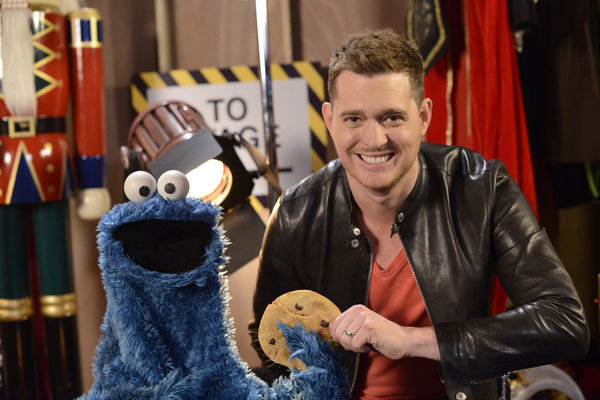 michael bubls 3rd annual christmas special aired on nbc on december 18 2013 cookie monster is featured as a special guest along with mary j blige and