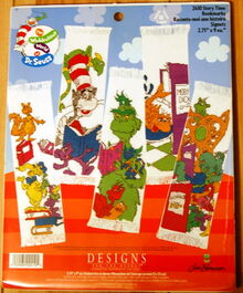 Designs for the needle wubbulous cross stitch story time bookmarks