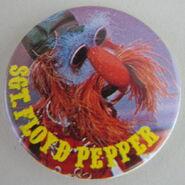 Muppet show button pin badge uk floyd pepper