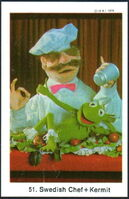 Sweden swap gum cards 51 swedish chef and kermit