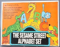 Colorforms sesame alphabet set