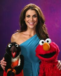 Samantha Harris and Elmo