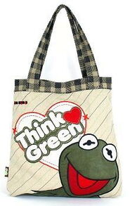 Think green tote bag 2