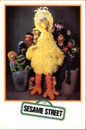 Art of the muppets postcard sesame street