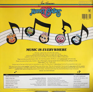 Music is Everywhere LP back