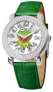 Ewatchfactory 2011 womens muppets kermit shimmer watch