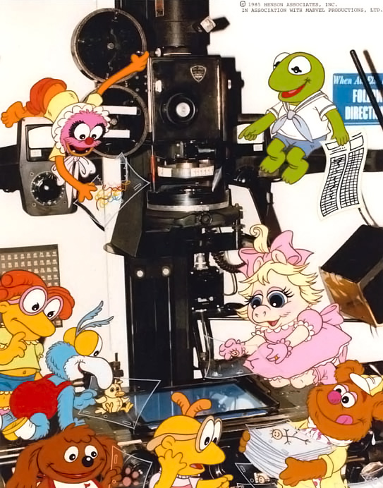The Muppet Babies with an animation camera