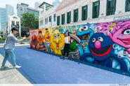 Universal studios singapore bugis junction mural