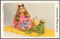 Sweden swap gum cards 15 miss piggy and kermit
