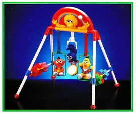 Tyco 1993 musical baby play gym