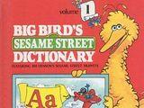 Big Bird's Sesame Street Dictionary