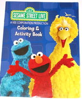 Sesame street live coloring book