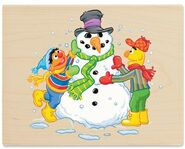 Stampabilities bert n ernie build a snowman