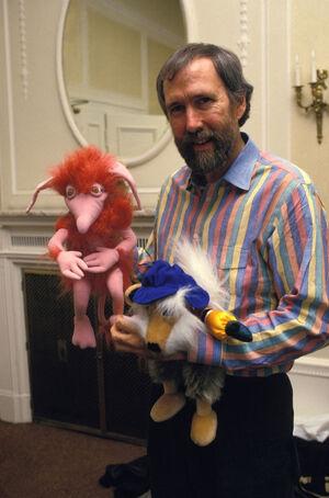 Jim Henson with Dakin Labyrinth plush