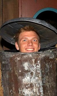 Nick Carter Oscar's trash can