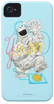 Zazzle cookie monster b+w sketch