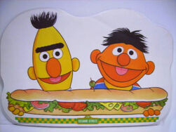 1982 sesame placemat bert ernie