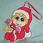 Kurt adler flat muppet babies christmas ornament piggy