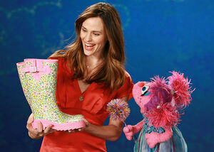 Jennifer Garner and Abby Cadabby