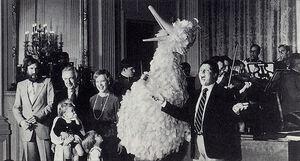 White House 1978 Henson Raposo Big Bird Carter Cronkite