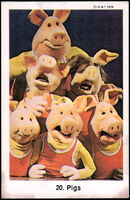 Sweden swap gum cards 20 pigs