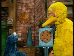 Cookie and Big Bird painting