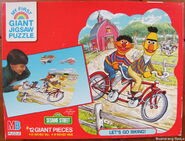 Milton bradley 1988 giant puzzle ernie bert 1