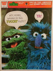 Vintage-Sesame-Street-Frame-Tray-Puzzle-Oscar-The