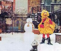 Big Bird snowman arbor SSmag Dec75