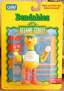 Child dimension 1992 bendable pvc big bird camp sesame 1
