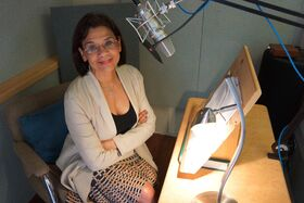 Sonia Manzano records memoir narration