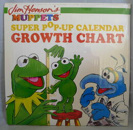 Muppets pop-up calendar growth chart