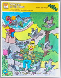 Western 1979 frame-tray puzzle pigeons in the park