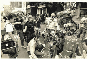 Gord Robertson operating Johnny 5