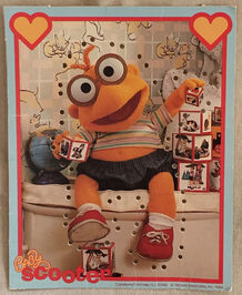 Muppet Babies Sewing Cards Scooter