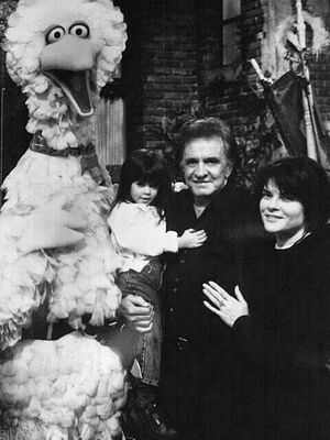 Johnny Cash and Rosanne Cash