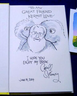 Kermit Love Caroll Spinney drawing