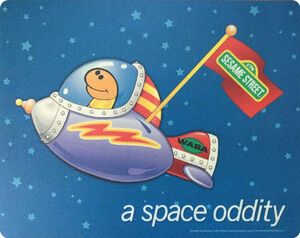 Slimey space oddity mouse pad