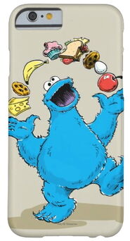 Zazzle vintage cookie monster juggling