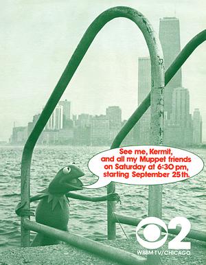 CBS-Ad-Kermit-ChicagoSkyline-(1970s)