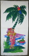 Martex 1980 piggy kermit island beach towel 1