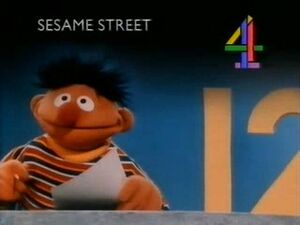 Channel 4 - Sesame Street closure card with Ernie and the Number 12