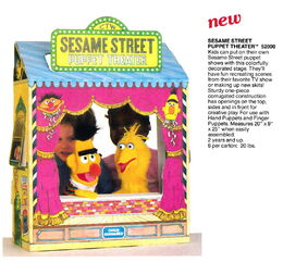 Child guidance 1982 cbs toys catalog sesame street puppet theater new this year