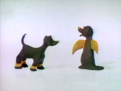 Clay animation two puppies