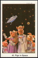 Sweden swap gum cards 43 pigs in space