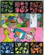 Colorforms 1978 mother goose stand-up play set 2