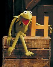 Kermit letter H Sesame