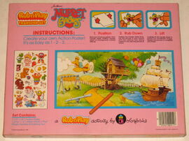 Colorforms 1985 muppet babies rub n' play transfer set 2