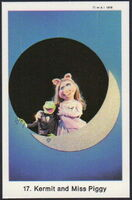 Sweden swap gum cards 17 kermit and miss piggy